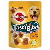 8 x 130g Pedigree Tasty Bites Chewy Cubes Chicken Dog Treats