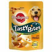 8 x 95g Pedigree Tasty Bites Crunchy Pockets Chicken Dog Treats