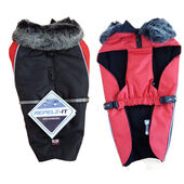 Dog Gone Smart Aspen Waterproof Parka Jacket Black / Red