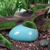 Fluval Ceramic Duck Stone With Moss Blue
