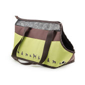 Ancol Dog/Cat Carry Bag Chocolate & Lime