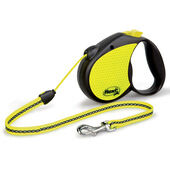 Flexi Reflect Retractable Hi Vis Dog Cord Lead - Neon
