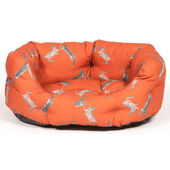 Danish Design Orange Woodland Hare Deluxe Slumber Dog Bed