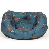 Danish Design Woodland Blue Stag Deluxe Slumber Dog Bed