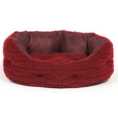 Danish Design Bobble Red Damson Deluxe Slumber Dog Bed