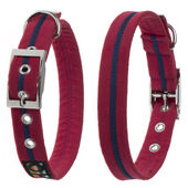 Oscar & Hooch Dog Collar Bold Red