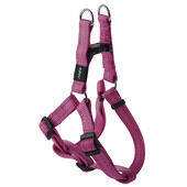 Rogz Snake Reflective Nylon Step-in Harness Pink 16mm