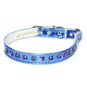 Classic Exquisite Cat Collar Vinyl Blue