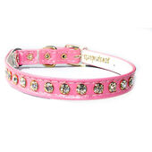 Classic Exquisite Cat Collar Vinyl Pink