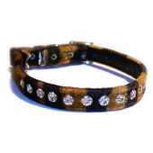 Classic Exquisite Cat Collar Velvet Tiger Print