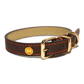 Rosewood Luxury Leather Collar Brown 1 1/2