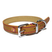 Rosewood Luxury Leather Collar Tan 3/4