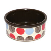 Rosewood Stoneware Dog Bowl Multi Spot