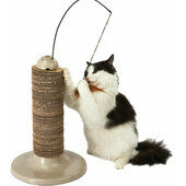 Rosewood Wolf & Tiger Feather Scratching Post 31x31x51.3cm