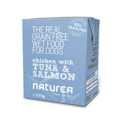 12 x Naturea Grain Free Dog Chicken With Tuna & Salmon 375g
