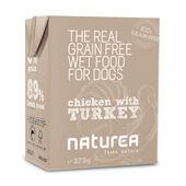 12 x Naturea Grain Free Dog Chicken With Turkey 375g