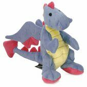 Go Dog Dragon Periwinkle Plush Dog Toy With Chew Guard