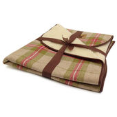 Danish Design Newton Moss Cream & Red Throw Pet Bedding