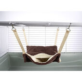Little Friends Fluffy Lined Hammock With Pouch Luxury Chocolate