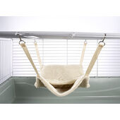 Little Friends Fluffy Lined Hammock With Pouch Luxury Cream