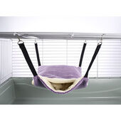 Little Friends Fluffy Lined Hammock With Pouch Purple Velvet