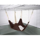 Little Friends Plain Hammock With Fleece Centre Luxury Chocolate