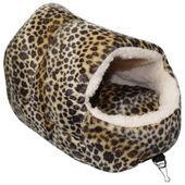 Little Friends Snuggle Up Rat Slipper Toy Leopard Print Fleece