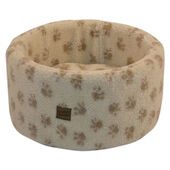 Danish Design Paw Print Cream Cat Cosy Bed