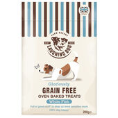 4 x Laughing Dog Grain Free Biscuit Treats Fish 200g