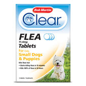 18 x Bob Martin Clear Flea Cats & Small Dogs Tablets