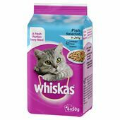 8 x Whiskas Pouch Fish Selection In Jelly 6x50g