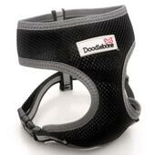 Black Doodlebone Reflective Air Mesh Dog Harness