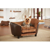 Enchanted Home Ultra Plush Snuggle Bed Pebble Brown 67x41x41cm