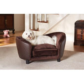 Enchanted Home Ultra Plush Brown Snuggle Dog Bed