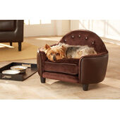 Enchanted Home Ultra Plush Head Board Brown Dog Bed