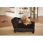 Enchanted Home Ultra Plush Black Storage Dog Bed
