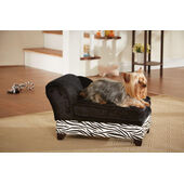 Enchanted Home Ultra Plush Storage Bed Black Zebra 55x33x36cm