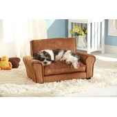 Enchanted Home Ultra Plush Tan Club Dog Chair