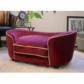 Enchanted Home Ultra Plush Royal Red Snuggle Dog Bed - Large