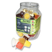 60 x Komodo Jelly Pots Mixed Flavours Display Jar
