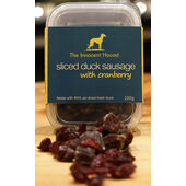 6 x The Innocent Hound Sliced Duck With Cranberry Sausage 100g