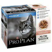 40 x Purina Pro Plan Cat Nutrisavour Housecat With Salmon In Gravy 85g