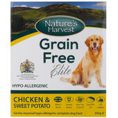 10 x Nature\'s Harvest Grain Free Elite Chicken & Sweet Potato 395g