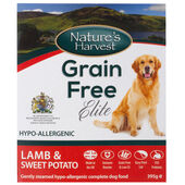 10 x Nature\'s Harvest Grain Free Elite Lamb & Sweet Potato 395g