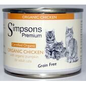6 x Simpsons Premium Certified Organic Adult Chicken With Pumpkin 200g