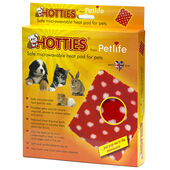 Petlife Hotties Microwavable Pet Warmer With Red & White Polka Dot Cover