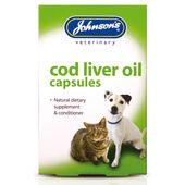 Johnson's Dog & Cat Cod Liver Oil Capsules