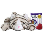 Snuggle Kitty Tan Tiger Plush Cat Toy With Real Heartbeat & Heat Pack