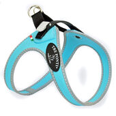 Tre Ponti Secondo Small/medium Dog Rachete Buckle Harness Light Blue