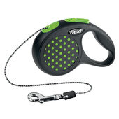 Flexi Design Retractable Cord Lead Green Dot